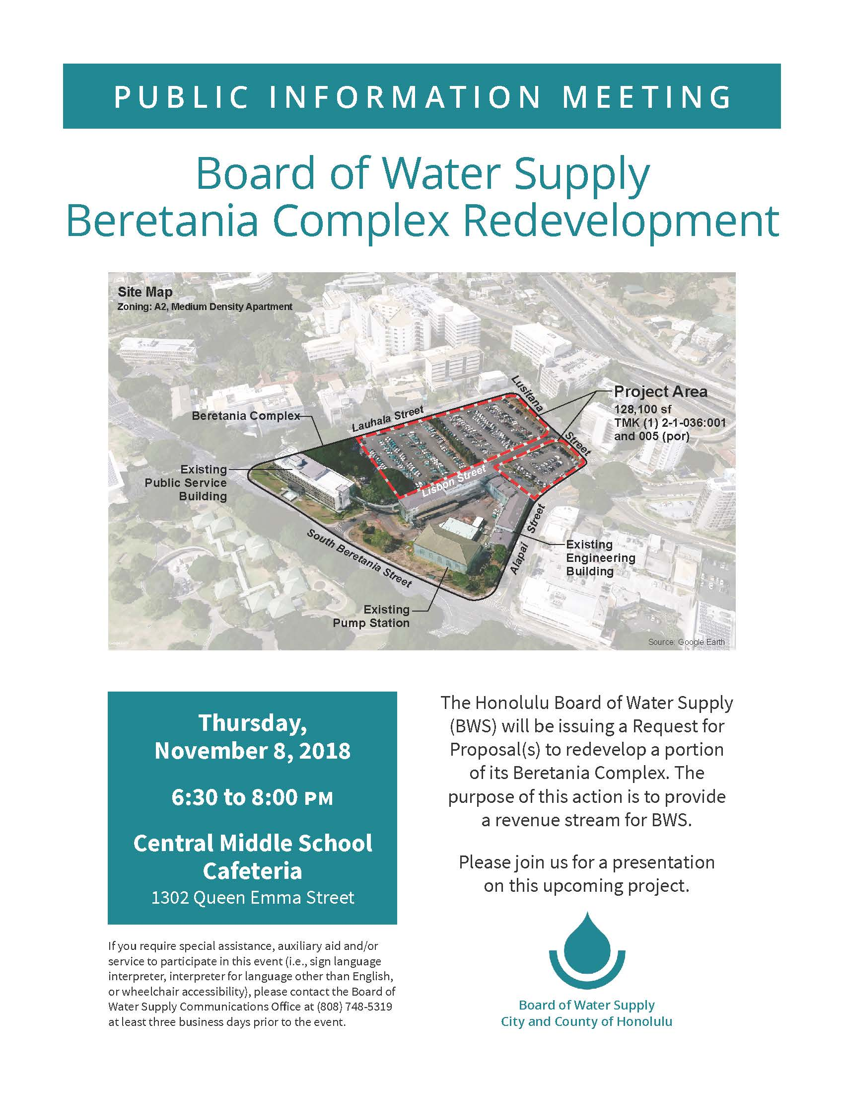 beretania redevelopment public information meeting