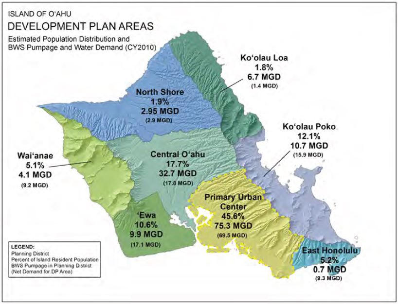 primary urban center development plan areas map
