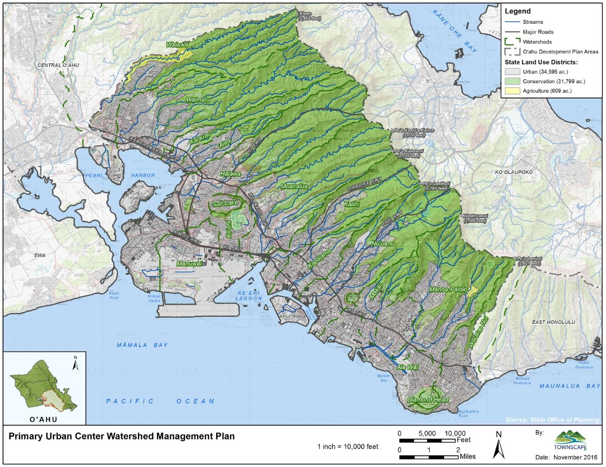 primary urban center watershed management plan map