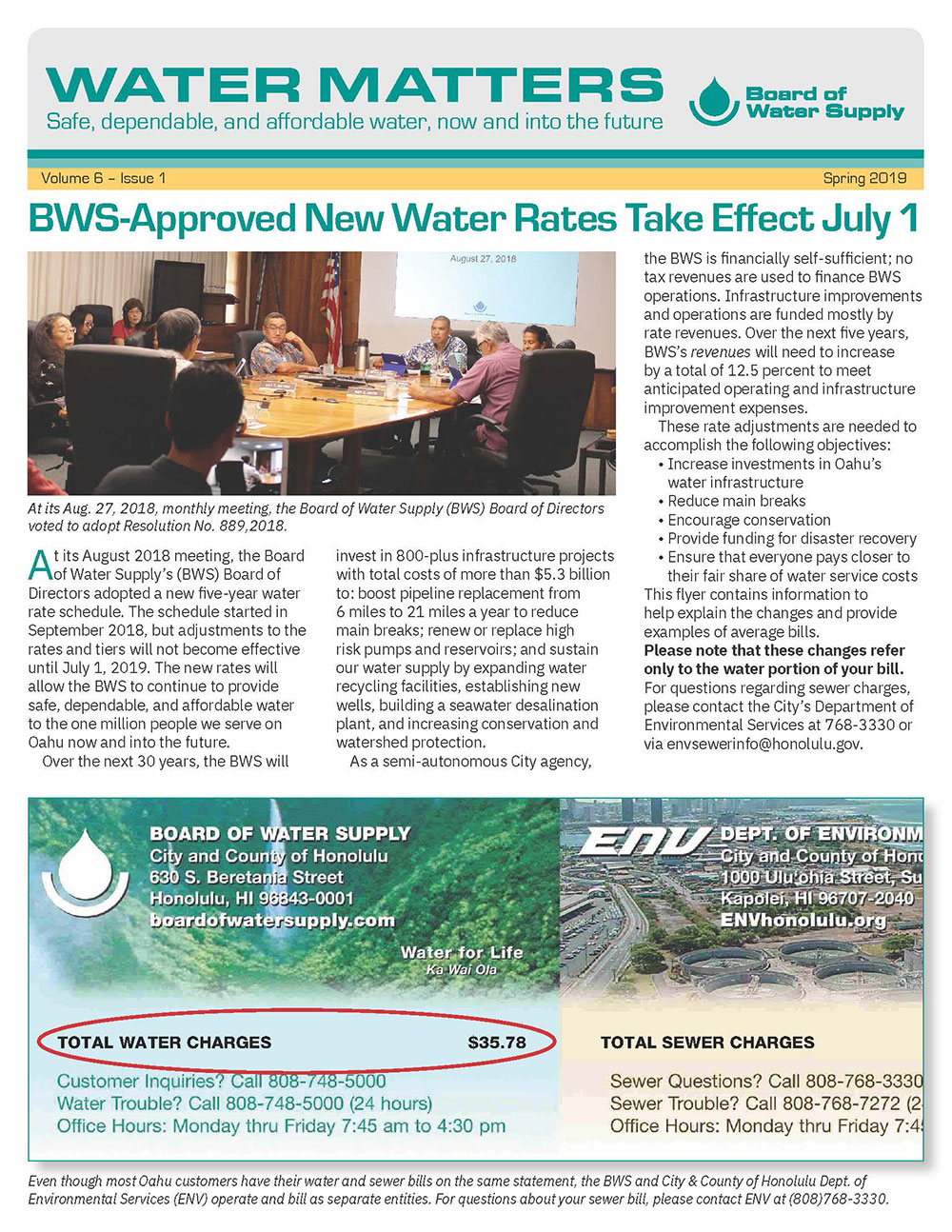 water matters spring 2019