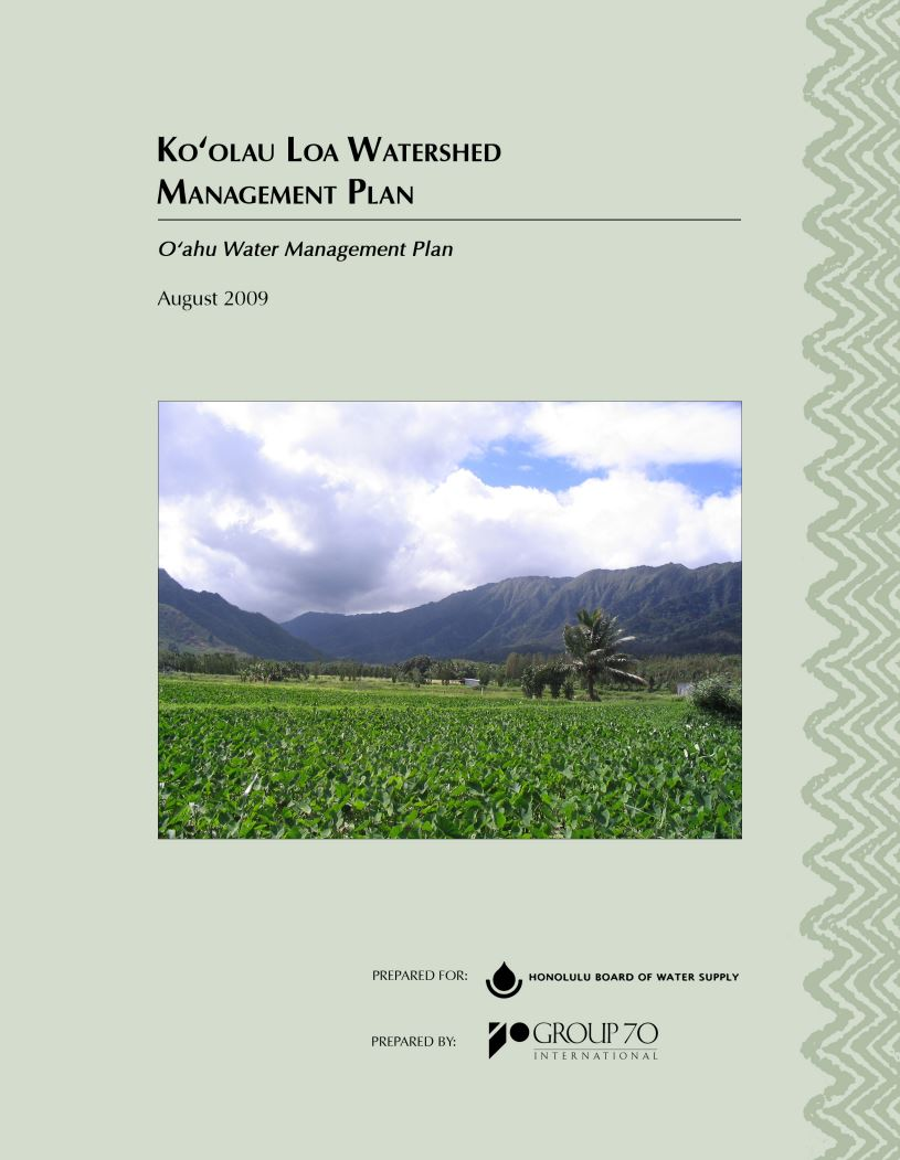 koolau loa watershed management plan