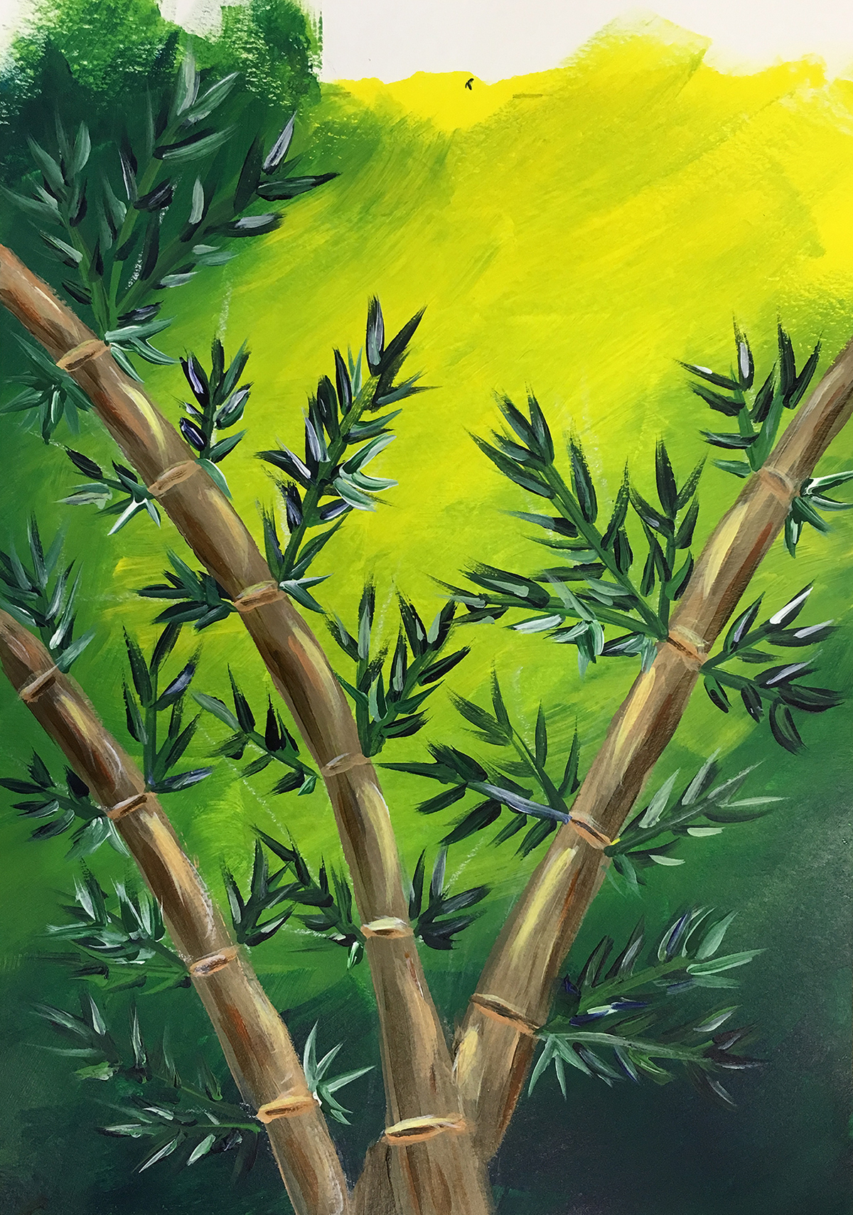 painting bamboo