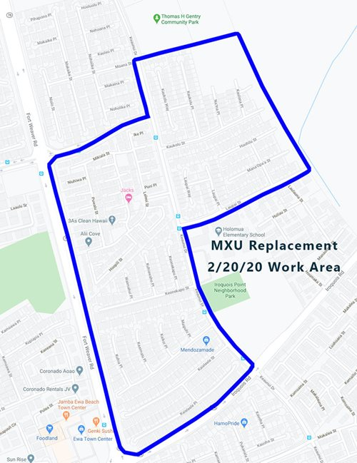 mxu replacement project ewa february 20 2020